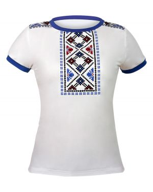 жіноча футболка з вишивкою. Женская футболка с вышивкой Орнамент 05edc85ca70e5